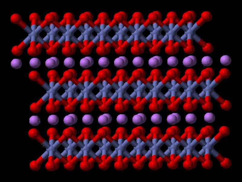 コバルト酸リチウムの結晶構造