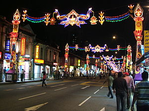 Hinduism in Singapore - Deepavali decorations in Singapore.