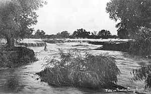 Santa Cruz River (Arizona) - Image: Little Waterfalls Santa Cruz River Downtown Tucson Arizona 1889