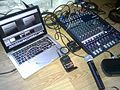 Live streaming audio setup for Sobra-tankar - Yamaha MG124cx audio mixer, Sennheiser ew100G3 wireless set, Shure PGW24-PG58 wireless set.jpg