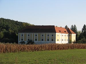 Lobor concentration camp - The palace of Keglevich in 2011, the former place of Lobor concentration camp