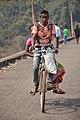 Local Couple Crossing Ramial Dam - Dhenkanal 2018-01-25 9459.JPG