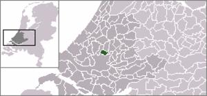 Bergschenhoek - Image: Locatie Bergschenhoek