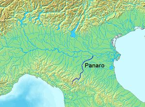 Panaro (river) - Image: Location Panaro River