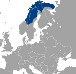Sápmi - Image: Location Sapmi