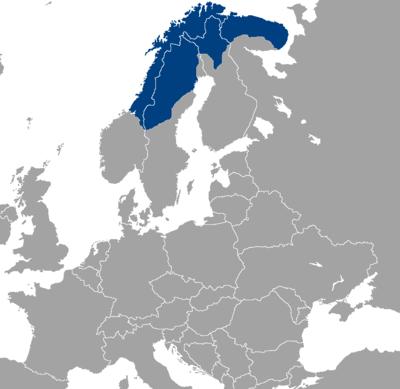 Karta över Sapmi, sameland