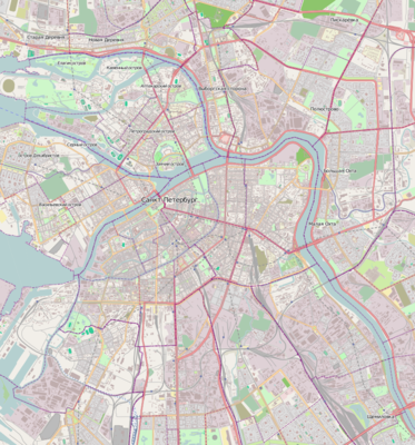 Location map Russia Saint Petersburg central