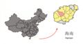 Location of Baisha within Hainan (China).png