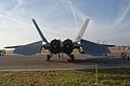 Lockheed-Martin F-22A-30-LM Raptor 05-099 Rear Dawn SNF 04April2014 (14586358585).jpg