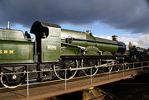 GWR 4000 Class - First series No. 4003 Lode Star, at Tyseley Locomotive Works