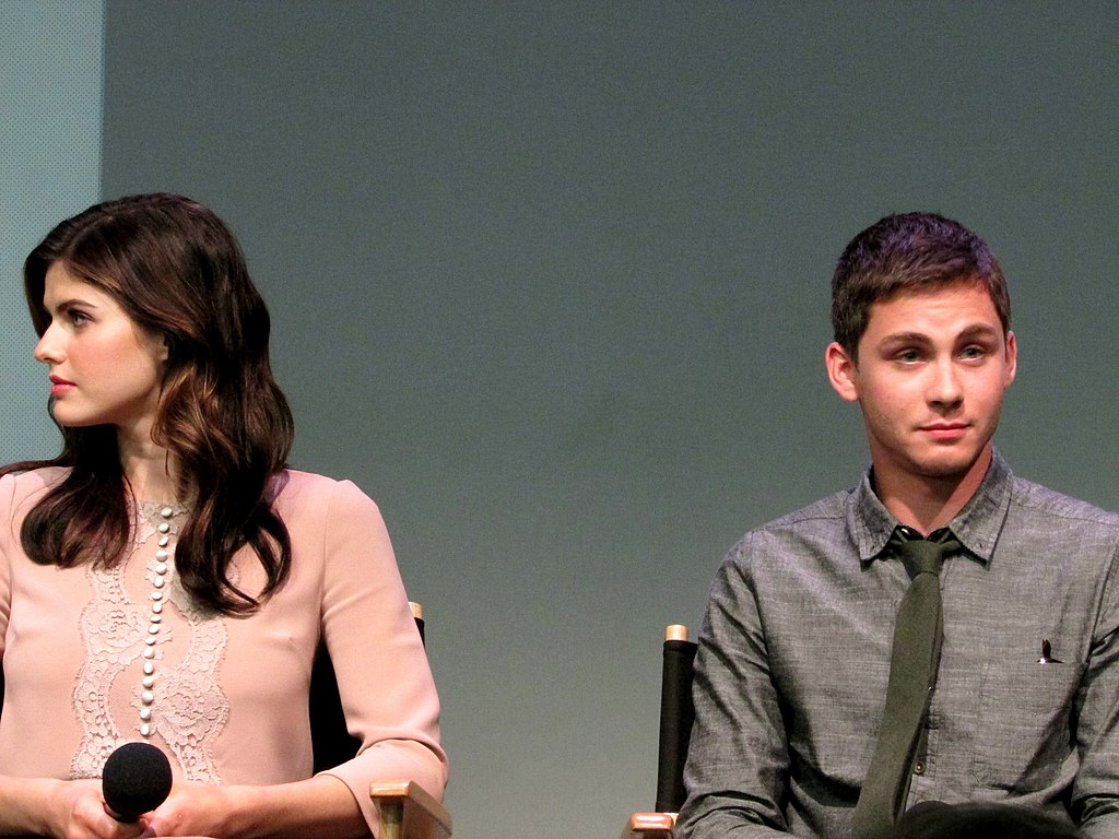 filelogan lerman and alexandra daddario at the apple