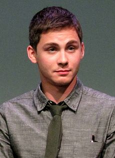 Logan Lerman at the Apple Store Soho in New York City, July 29, 2013.jpg