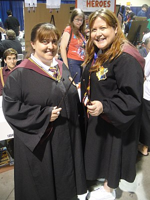 Harry Potter fandom - Image: Long Beach Comic & Horror Con 2011 Hogwarts students (6301701262)
