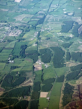 Slamannan - Slamannan and Slamannan Railway from the air