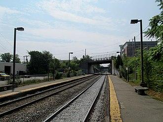 Mishawum (MBTA station) - The modern Mishawum station opened in 1984