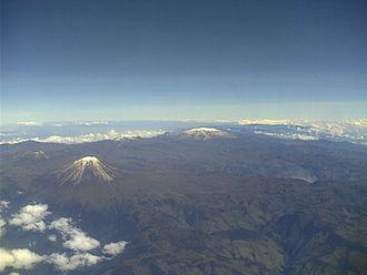 Los Nevados National Natural Park - Aerial view of Los Nevados National Park