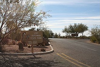 Lost Dutchman's Gold Mine - Entrance to Lost Dutchman State Park