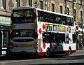 Lothian Buses bus 906 Volvo B9TL Wrightbus Eclipse Gemini SN08 BXW Harlequin livery.jpg