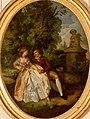 Louis-Roland Trinquesse Couple d'amoureux dans un jardin.jpg