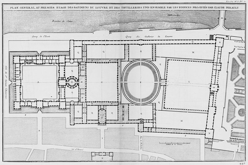 filelouvre et tuileries plan g233n233ral suivant le second