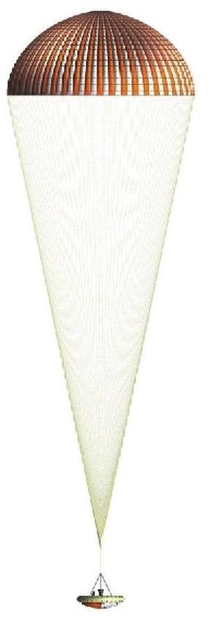 Low-Density Supersonic Decelerator - Image: Low Density Supersonic Decelerator (LDSD ) 33.5 meter Supersonic Ring Sail Parachute