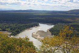 Il fiume luangwa nei pressi di ndevu