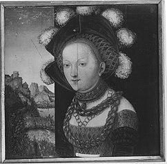 Bildnis einer fürstlich gekleideten jungen Dame (Salome-Fragment) (Werkstatt)