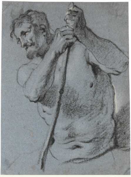 File:Lucas Franchoys (II) - Half-length study of a bearded man holding a staff.tiff