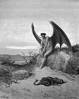 Lucifer, the fallen angel / By Gustave Doré (for Paradise Lost) [Public domain], via Wikimedia Commons