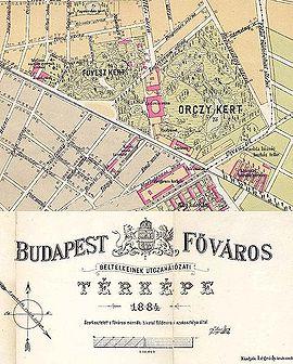 Ludovica Academy street map 1884