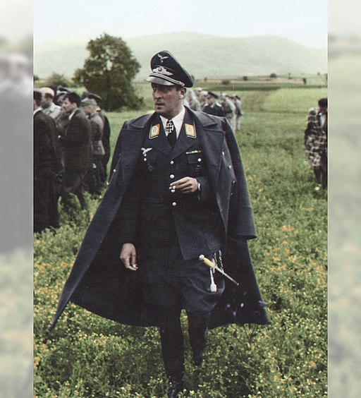 Luftwaffe Major Clemens Graf von Schönborn-Wiesentheid in a field. (47953965146)