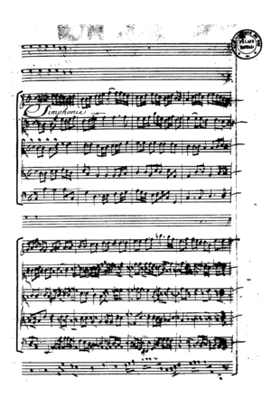 Pierre Perrin - Motet Plaude Laetare Gallia, Perrin wrote a text and Lully music. (Lully's manuscript)