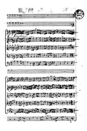 """Plaude Laetare Gallia - Lully's manuscript """"Plaude Laetare Gallia"""""""