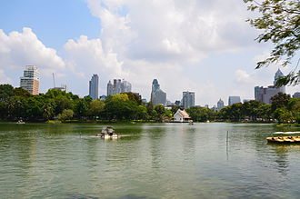 Lumphini Park - View towards the Ratchadamri-Ratchaphrasong districts