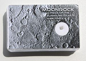 Lunar meteorite - Image: Lunar meteorite NWA 4483 piece