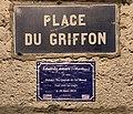 """Mémoire trans (Edouarda Amaro """"Martha"""") et plaque de la place du Griffon (Lyon).jpg"""