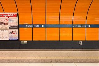 Munich Marienplatz station metro station in Munich, Germany