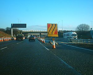 M18 motorway (Great Britain) - M18 northbound during the 2005–2006 roadworks