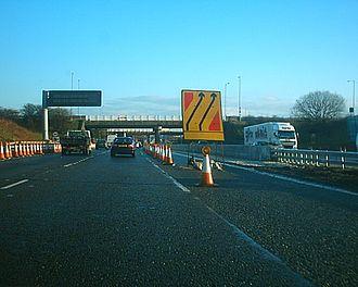 M18 motorway (Great Britain) - M18 northbound during the 2005–2006 roadworks