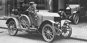 "1913 in the United Kingdom - 1913 ""Bullnose"" Morris Oxford."