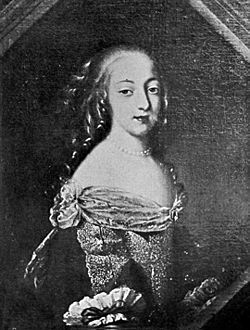 Françoise de Rochechouart de Mortemart while she was known as Mademoiselle de Tonnay-Charente.