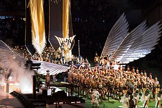 "Vogue (Madonna song) - Madonna performing ""Vogue"" on the Super Bowl XLVI halftime show in 2012"