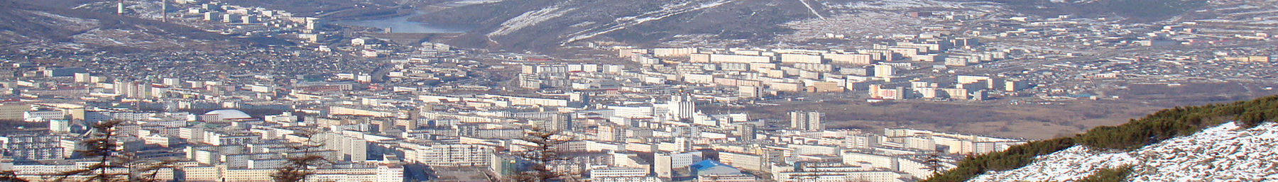 Magadan as seen from surrounding mountains