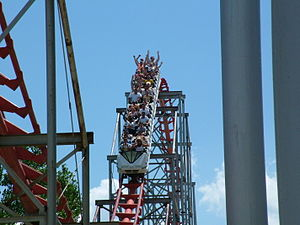 Magnum XL-200, the first roller coaster in the...