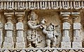Mahabali receiving Vamana, Chennakesava Hindu temple, Somanathapura Karnataka.jpg
