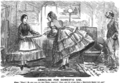 Maid and mistress in crinoline. Punch Almanack for 1862-2.png