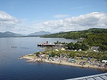 Loch Lomond Shores and the paddle steamer