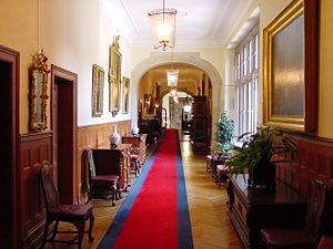 Schlosshotel Kronberg - Main hallway of Schloss Hotel Kronberg