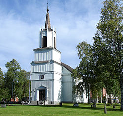 Malå Church in August 2013