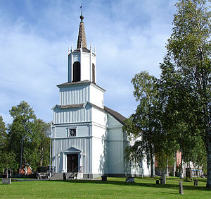 Malå - Malå Church in August 2013
